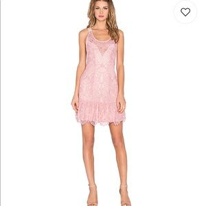NWT Lovers + Friends X REVOLVE GISELLE DRESS NUDE